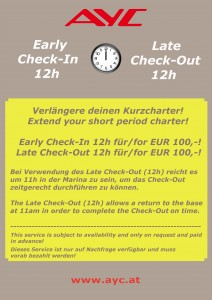 AYC Early Check In & Late Check Out Leaflet 2017