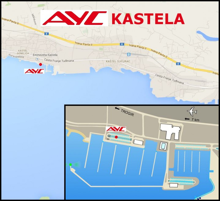 AYC Basis Marina Kastela LOCATION MAP