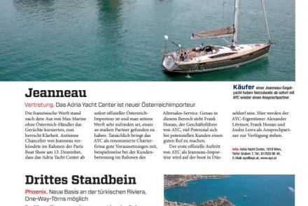 Yachtrevue Bericht über AYC Jeanneau Vertretung