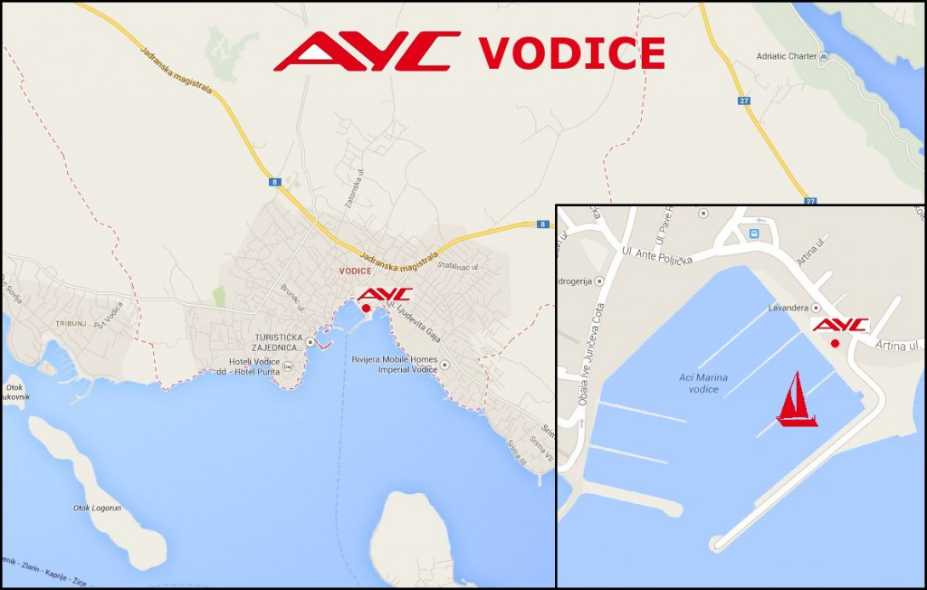 AYC Basis Vodice LOCATION MAP NEW